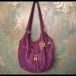 MICHAEL MICHAEL KORS large purple hobo